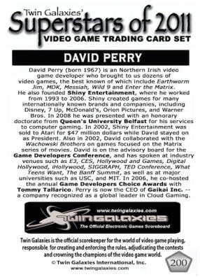 David Perry - Trading Card 2