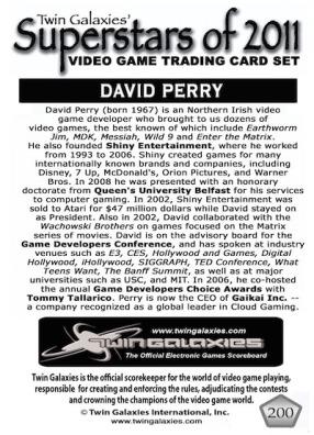 David Perry - Trading Card 2